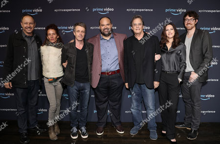 Moderator John Griffiths, Julie Berghoff, Composer Harry Gregson-Williams, Mel Rodriguez, Executive Producer Michael Dinner, Isa Dick Hackett, and Executive Producer Kalen Egan