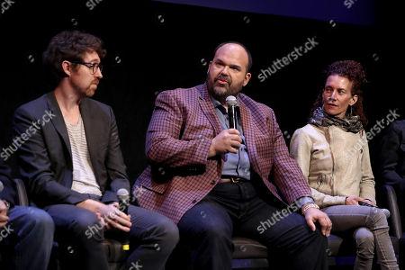 Executive Producer Kalen Egan, Mel Rodriguez, and Julie Berghoff