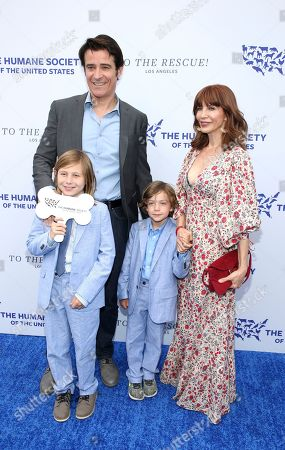 Goran Visnjic, Vigo Visnjic, Tin Visnjic, Eva Visnjic. Goran Visnjic, from left, Vigo Visnjic, Tin Visnjic and Eva Visnjic walk the red carpet at the Humane Society of the United States' To the Rescue! Los Angeles gala. The gala was held at Paramount Studios and benefitted the HSUS' Farm Animal Protection campaign. Competitive Surfer Conrad Carr, undercover investigators Whitney Warrington and Mary Beth Sweetland, and law firm Latham & Watkins, LLP were honored at the event, which featured performances by Moby. (Photo by