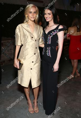 Isabel Lucas, Lydia Hearst. Isabel Lucas, left and Lydia Hearst attend the cocktail reception at the Humane Society of the United States' To the Rescue! Los Angeles gala. The gala was held at Paramount Studios and benefitted the HSUS' Farm Animal Protection campaign. Competitive Surfer Conrad Carr, undercover investigators Whitney Warrington and Mary Beth Sweetland, and law firm Latham & Watkins, LLP were honored at the event, which featured performances by Moby. (Photo by