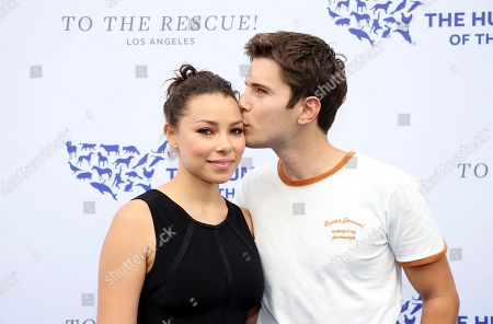 Jessica Parker Kennedy, Ronen Rubinstein. Jessica Parker Kennedy, left, and Ronen Rubinstein walk the red carpet at the Humane Society of the United States' To the Rescue! Los Angeles gala. The gala was held at Paramount Studios and benefitted the HSUS' Farm Animal Protection campaign. Competitive Surfer Conrad Carr, undercover investigators Whitney Warrington and Mary Beth Sweetland, and law firm Latham & Watkins, LLP were honored at the event, which featured performances by Moby. (Photo by