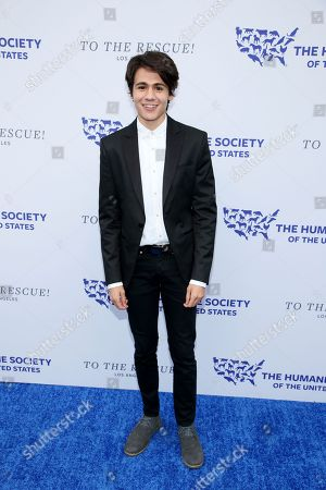 Stock Photo of Diego Josef walks the red carpet at the Humane Society of the United States' To the Rescue! Los Angeles gala. The gala was held at Paramount Studios and benefitted the HSUS' Farm Animal Protection campaign. Competitive Surfer Conrad Carr, undercover investigators Whitney Warrington and Mary Beth Sweetland, and law firm Latham & Watkins, LLP were honored at the event, which featured performances by Moby. (Photo by