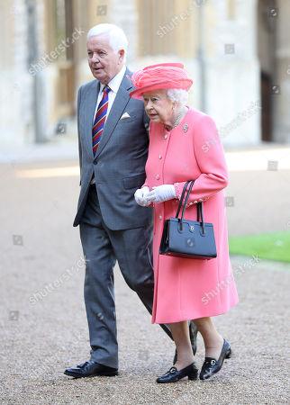 Sir John Spurling and Queen Elizabeth II at Winsdor Castle
