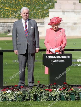 Queen Elizabeth II and Sir John Spurling at Winsdor Castle