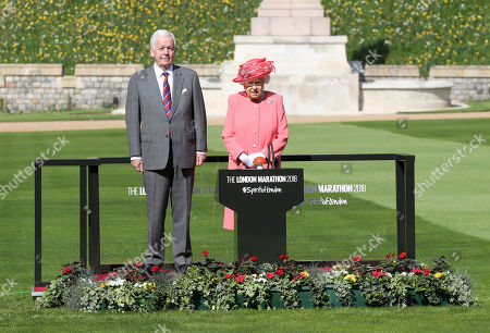 Stock Image of Queen Elizabeth II and Sir John Spurling at Winsdor Castle