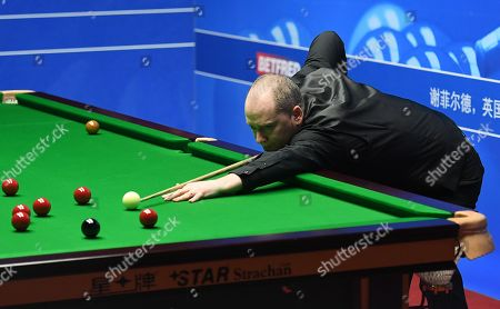 Graeme Dott of Scotland at the table during their first round match
