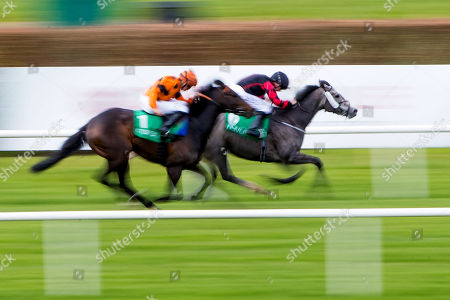Stock Picture of The Vincent Ward Memorial Handicap . Chris Hayes on Well Why Not on his way to winning the race