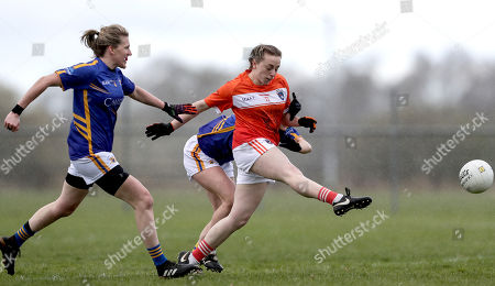 Tipperary vs Armagh . Armagh's Aoife McCoy and Jennifer Grant of Tipperary
