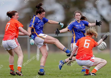 Editorial photo of Lidl Ladies National Football League Division 2 Semi-Final, Kinnegad, Westmeath  - 22 Apr 2018