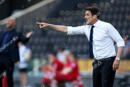 Udinese's head coach Massimo Oddo gestures during the Italian Serie A soccer match between Udinese abd Crotone at Friuli stadium in Udine, Italy, 22 April 2018.
