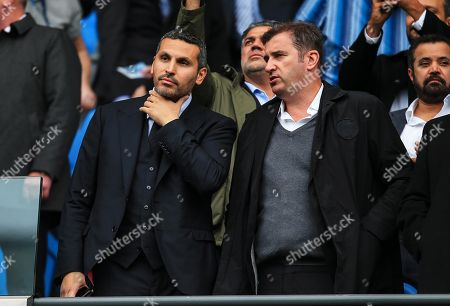 Manchester City chairman Khaldoon Al Mubarak watches from the stand