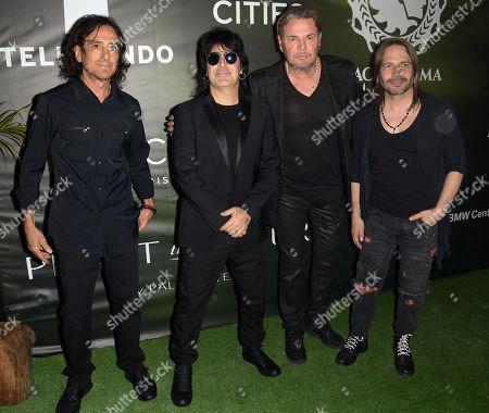 Stock Image of Juan Calleros, Alex Gonzalez, Fernando Olvera and Sergio Vallin of Mana