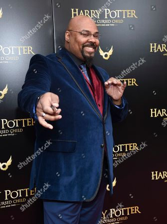"""Actor James Monroe Iglehart attends the """"Harry Potter and the Cursed Child"""" Broadway opening at the Lyric Theatre, in New York"""