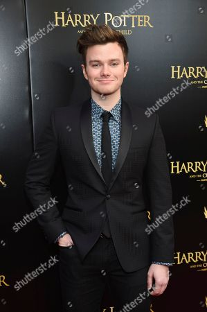 """Stock Picture of Chris Colfer attends the """"Harry Potter and the Cursed Child"""" Broadway opening at the Lyric Theatre, in New York"""