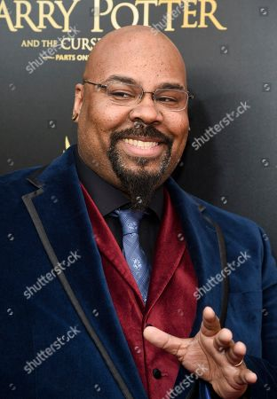 """James Monroe Iglehart attends the """"Harry Potter and the Cursed Child"""" Broadway opening at the Lyric Theatre, in New York"""