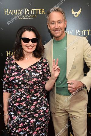"Stock Image of Fran Drescher, Peter Marc Jacobson. Fran Drescher and Peter Marc Jacobson attend the ""Harry Potter and the Cursed Child"" Broadway opening at the Lyric Theatre, in New York"