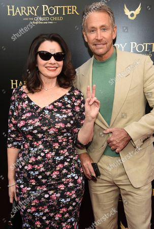 "Stock Photo of Fran Drescher, Peter Marc Jacobson. Fran Drescher and Peter Marc Jacobson attend the ""Harry Potter and the Cursed Child"" Broadway opening at the Lyric Theatre, in New York"
