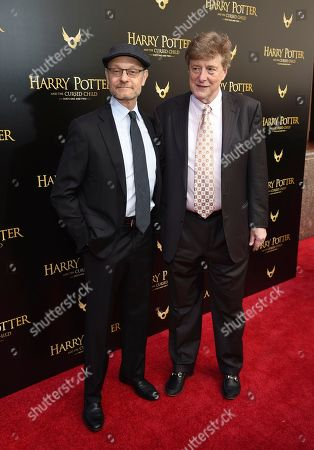 """David Hyde Pierce, Brian Hargrove. David Hyde Pierce, left, and husband Brian Hargrove attend the """"Harry Potter and the Cursed Child"""" Broadway opening at the Lyric Theatre, in New York"""