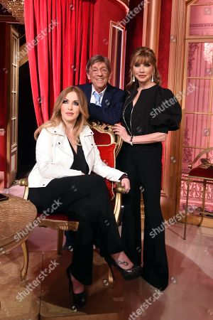 Milly Carlucci and Sandro Mayer and Roberta Bruzzone