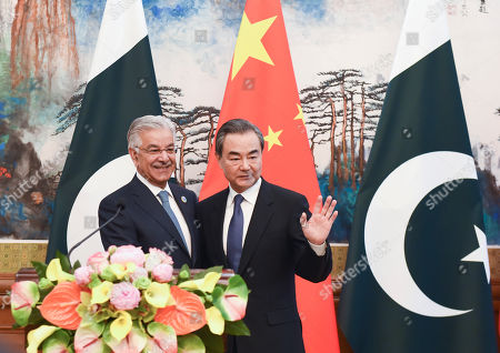 Khawaja Muhammad Asif and Wang Yi
