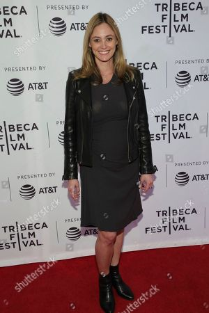 "Actress Elizabeth Masucci attends a screening of ""All About Nina"" at the SVA Theatre during the 2018 Tribeca Film Festival, in New York"