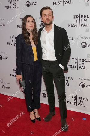 "Marianne Rendon, Brandon Sklenar. Actors Marianne Rendon, left, and Brandon Sklenar attend a screening of ""Mapplethorpe"" at the SVA Theatre during the 2018 Tribeca Film Festival on in New York"