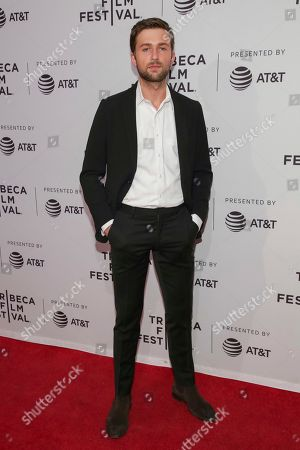 "Actor Brandon Sklenar attends a screening of ""Mapplethorpe"" at the SVA Theatre during the 2018 Tribeca Film Festival on in New York"