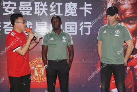 Dwight Yorke and Ronny Johnsen
