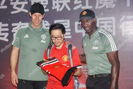Editorial picture of Former Manchester United footballers Dwight Yorke and Ronny Johnsen meet fans, Shanghai, China - 22 Apr 2018