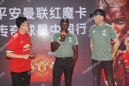 Editorial photo of Former Manchester United footballers Dwight Yorke and Ronny Johnsen meet fans, Shanghai, China - 22 Apr 2018