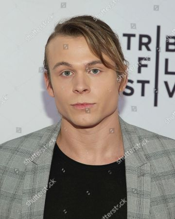 """Actor Jordan Christian Hearn attends a screening of """"All About Nina"""" at the SVA Theatre during the 2018 Tribeca Film Festival on in New York"""