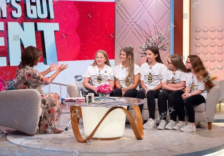 Stock Image of Lorraine Kelly with Rise and Hollie Booth