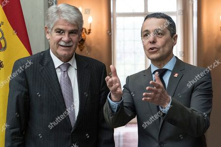 Editorial photo of Spanish FM Dastis visits Switzerland, Bern - 23 Apr 2018