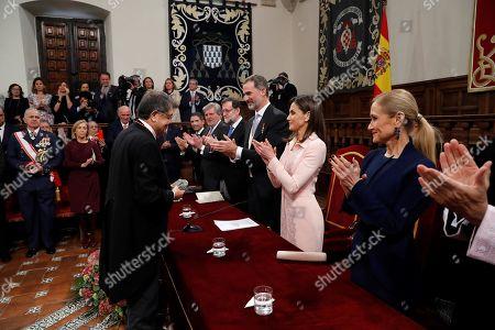 Mariano Rajoy, King Felipe VI, Queen Letizia, Sergio Ramirez, Cristina Cifuentes