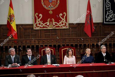 Mariano Rajoy, Queen Letizia, King Felipe VI, Cristina Cifuentes
