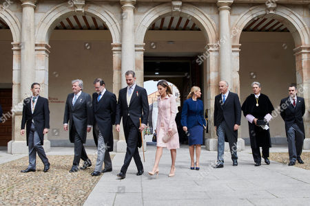 King Felipe VI of Spain, Queen Letizia, Mariano Rajoy, Cristina Cifuentes