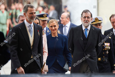 King Felipe VI of Spain, Mariano Rajoy, Cristina Cifuentes
