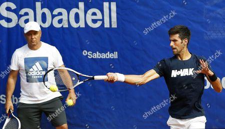 Novak Djokovic and Marian Vajda