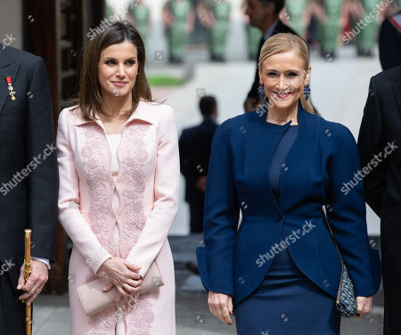 Queen Letizia and Cristina Cifuentes