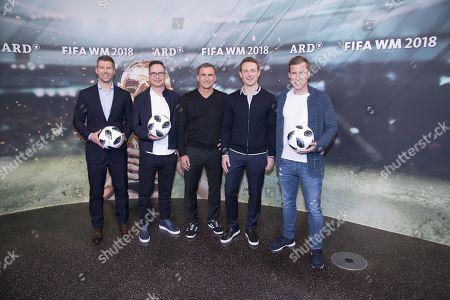 Thomas Hitzlsperger, Matthias Opdenhoevel, Stefan Kuntz, Alexander Bommes and Hannes Wolf