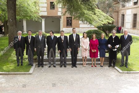 Inigo Mendez de Vigo, Mariano Rajoy, Felipe, Letizia, Cristina Cifuentes