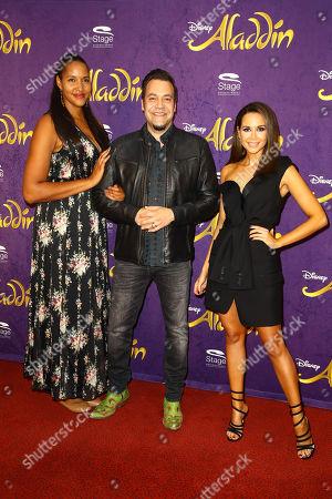 Cassandra Steen, Laith Al-Deen and Mandy Grace Capristo