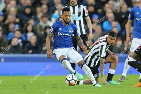 15 Kenedy for Newcastle United and11 Theo Walcott for Everton and  during the Premier League match between Everton and Newcastle United at Goodison Park, Liverpool. Picture by Graham Holt