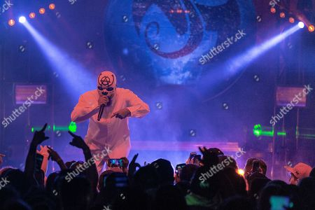 Editorial image of Tech N9ne in concert at the Orpheum Theatre, Madison, Wisconsin - 20 Apr 2018