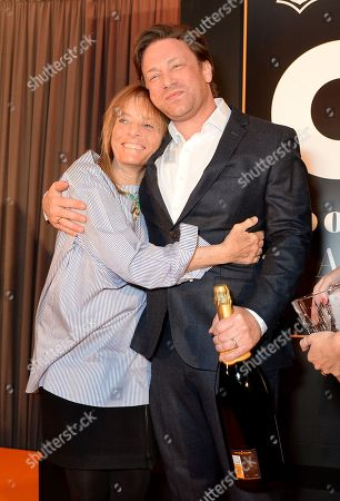 Stock Photo of Ruth Rogers and Jamie Oliver
