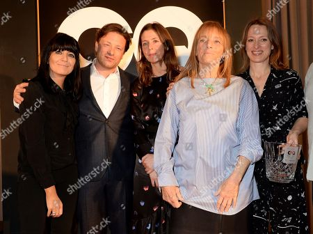 Stock Picture of Claudia Winkleman, Jamie Oliver, guest, Ruth Rogers and Sian Wyn Owen
