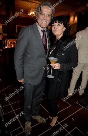 Stock Photo of Giorgio Locatelli and Plaxy Locatelli
