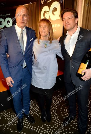 Dylan Jones, Ruth Rogers and Jamie Oliver