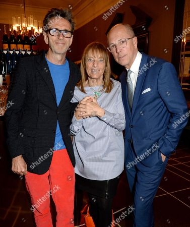 Stock Photo of Oliver Peyton, Ruth Rogers and Dylan Jones