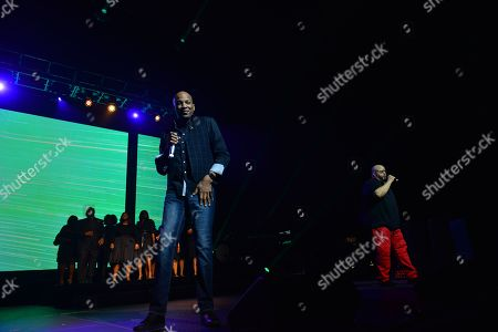 Donnie McClurkin and Fred Hammond perform during at James L. Knight Center